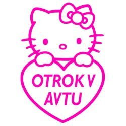KITTY V AVTU Nalepka