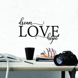 DREAM LOVE HOPE Nalepka
