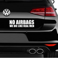 NO AIRBAGS Nalepka