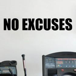NO EXCUSES Nalepka