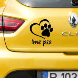 "DOG LOVE ""Ime psa"" Nalepka"