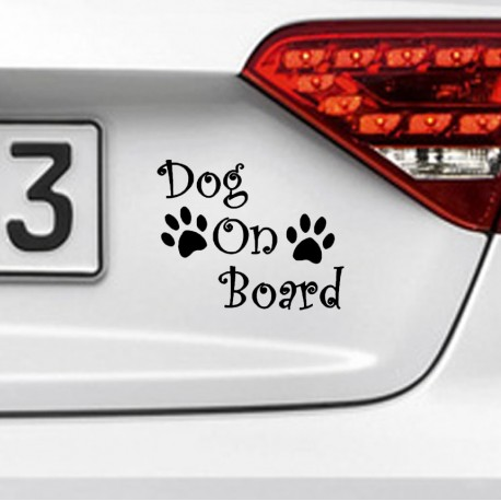 DOG ON BOARD Nalepka