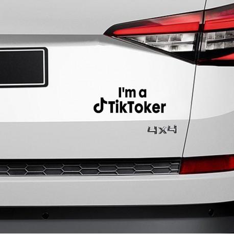 I'M TIKTOKER Nalepka